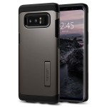 Spigen Tough Armor [Gunmetal], Etui & stojaczek dla Galaxy Note 8