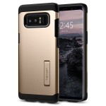 Spigen Tough Armor [Maple Gold], Etui & stojaczek dla Galaxy Note 8