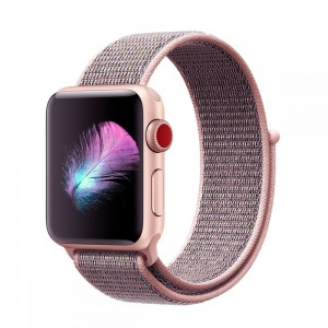 Tech-Protect Nylon [Pink Sand], Pasek do Apple Watch 1/2/3 (42mm)