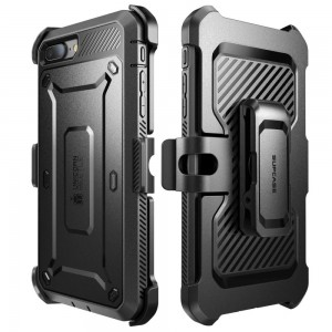 SUPCASE Unicorn Beetle Pro [Black], Pancerne Etui z klipsem do iPhone 7 Plus/8 Plus