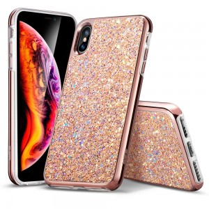 ESR Glitter [Rose Gold], Błyszczące etui do iPhone X/XS