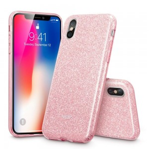 ESR Glitter Shine [Rose Gold], Błyszczące etui do iPhone X/XS