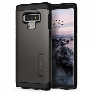 Spigen Tough Armor [Gunmetal], Etui & stojaczek dla Galaxy Note 9