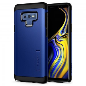 Spigen Tough Armor [Ocean Blue], Etui & stojaczek dla Galaxy Note 9