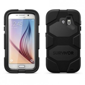 Griffin Survivor All-Terrain [Black], Pancerne etui z klipsem dla Galaxy S6