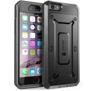 SUPCASE Unicorn Beetle Pro [Black], Pancerne Etui z klipsem do iPhone 6 /6S Plus
