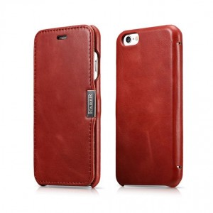 "ICarer Side Open Vintage Series [Red], Skórzane etui dla iPhone 6/6S (4.7"")"