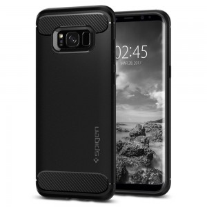 Spigen Rugged Armor [Black], Etui dla Galaxy S8
