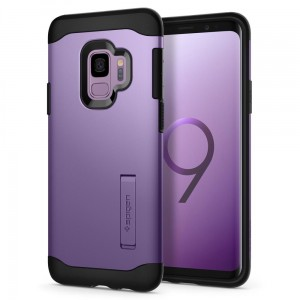 Spigen Slim Armor [Liliac Purple], Etui & stojaczek dla Galaxy S9 Plus