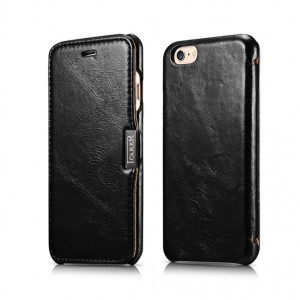 "ICarer Side Open Vintage Series [Black], Skórzane etui dla iPhone 6/6S (4.7"")"