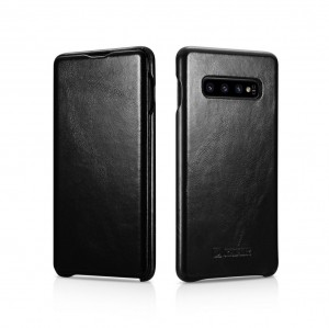 ICarer Vintage [Black], Skórzane etui do Galaxy S10+ Plus