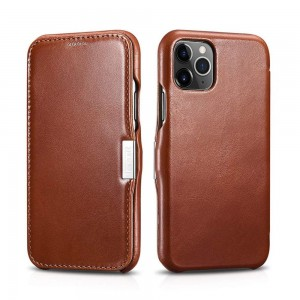 ICarer Vintage [Brown], Skórzane etui do iPhone 11 Pro