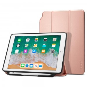 Spigen Smart Fold 2 [Rose Gold], Futerał dla iPad 9.7 2017/2018