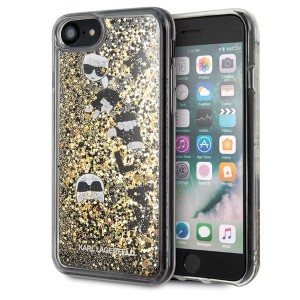 Karl Lagerfeld iPhone 7/8 SE 2020 czarno-złoty/black & gold hard case Glitter