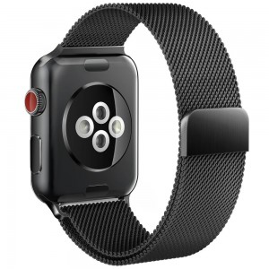 Tech-Protect MilaneseBand [Black], Bransoleta do Apple Watch 1/2/3 (38mm)