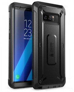 SUPCASE Unicorn Beetle Pro [Black], Pancerne etui z klipsem do Galaxy Note 8