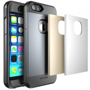 SUPCASE Water Resist [Gold/Silver/Grey],  Etui pancerne w 3 kolorach do iPhone 6 Plus/6s Plus