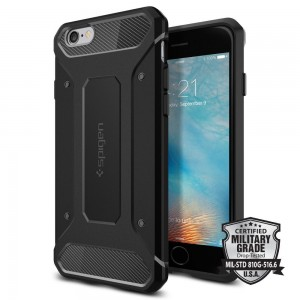 Spigen Rugged Armor [Black], Etui dla iPhone 6/6s