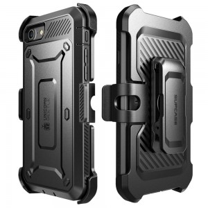 SUPCASE Unicorn Beetle Pro [Black], Pancerne Etui z klipsem do iPhone 7/8