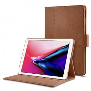 "Spigen Stand Folio [Brown], Futerał dla iPad 9.7"" 2017/2018"