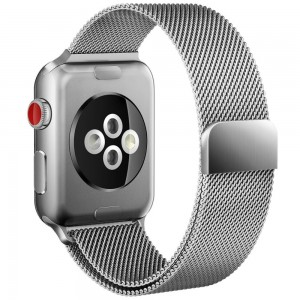 Tech-Protect MilaneseBand [Silver], Bransoleta do Apple Watch 1/2/3 (38mm)