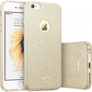 ESR Glitter Shine [Gold], Błyszczące etui do iPhone 6+/6s Plus