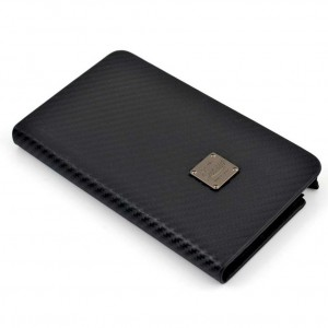 Qiotti Q.Book Slim Look Carbon [Black], Etui skórzane dla Galaxy Note 3