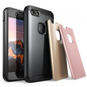 SUPCASE Water Resist [Gold/Rose/Grey],  Etui pancerne w 3 kolorach do iPhone 7/8