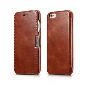 "ICarer Side Open Vintage [Brown], Skórzane etui dla iPhone 6/6S (4.7"")"