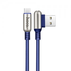 Hoco Capsule Data Cable Type-C [Blue], Kabel USB Type-C 2.4A