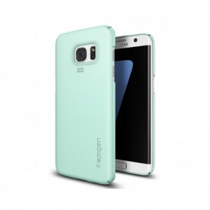 Spigen SGP Thin Fit [Mint], Ultra cienkie etui dla Galaxy S7 Edge