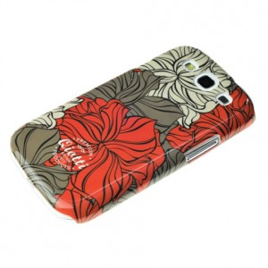 QIOTTI Q.Edition Flower [Red], Etui dla Galaxy S3