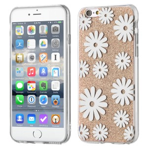 Wozinsky Shinny Case [Flower Gold], Etui z brokatem dla iPhone 6/6S