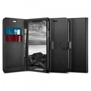Spigen Wallet S [Black], Etui & portfel dla iPhone X/XS